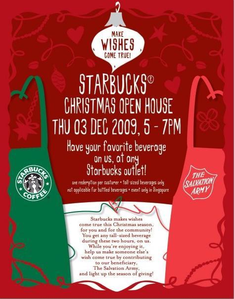 Is Starbucks Open On Christmas.Starbucks Christmas Open House Sittingwishingeating